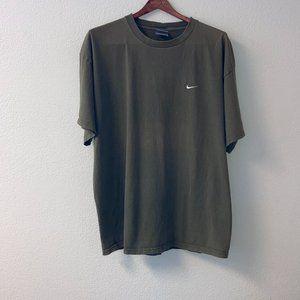 Nike Army Green Brown Short Sleeve Tee Shirt XL